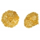 22K Gold Earrings with Filigree